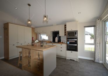 Willerby Pinehurst Lodge Kitchen., Scotland UK,